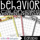 Behavior Calendars 2017-2018 Editable
