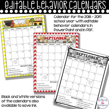 Editable Behavior Calendars