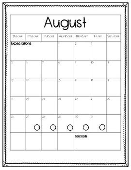 Behavior Calendars Sample 2018-2019