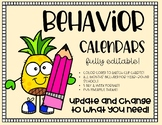 Behavior Calendars **Updated every year!**