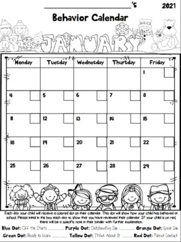 Behavior Calendars and Tracking Log {EDITABLE}{Updated to Re-Download Each Year}