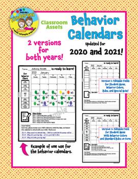 NEW! ENHANCED!  Behavior Calendars for 2017 and 2018