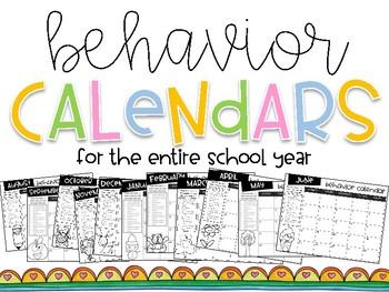 Behavior Calendars (for the entire school year)