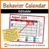 Behavior Calenders 2019-2020 editable