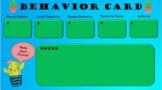 Behavior Card - Cactus Theme