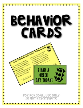 Behavior Card Tickets