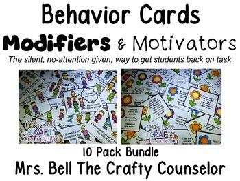 Behavior Cards Bundle (10 packs, 360 Cards) Monthly Behavior Cards