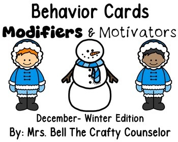 Behavior Cards - December Edition (Get Students Back On Task)