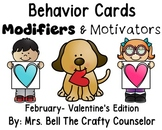 Behavior Cards - Feburary Edition (Get Students Back On Task)