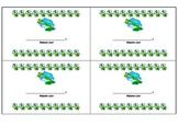 Behavior Cards-Frogs