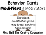 Behavior Cards - August Edition (Get Students Back On Task)