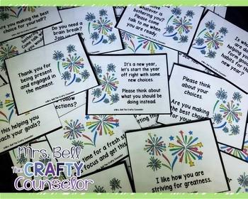 Behavior Cards - January Edition (Get Students Back On Task)