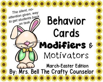 Behavior Cards - March Edition (Get Students Back On Task)