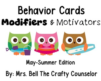 Behavior Cards - May Edition (Get Students Back On Task)