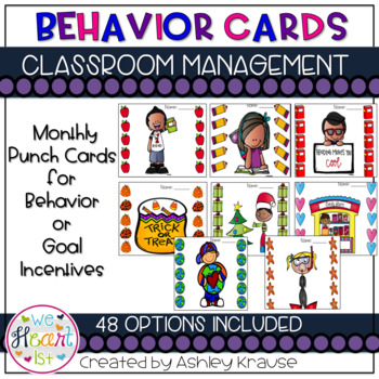 Behavior Cards - Monthly Punch Cards