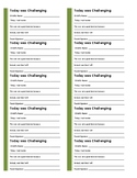 Behavior Cards- Note home to parents.