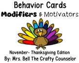 Behavior Cards - November Edition (Get Students Back On Task)