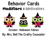 Behavior Cards - October Edition (Get Students Back On Task)