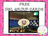 Behavior Cards Owl Theme numbers 1-5