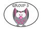 Behavior Cards Owl Theme numbers 1-5