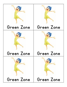 Behavior Cards: Zones of Regulation