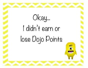 Dojo Behavior Signs