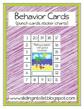 Behavior Cards {sticker charts}