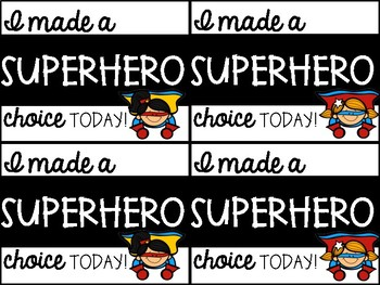 Behavior Certificates - Superhero