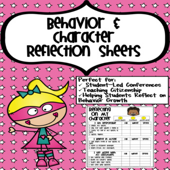 Behavior & Character Reflection Forms
