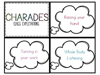 Behavior Charades: Classroom Expectations