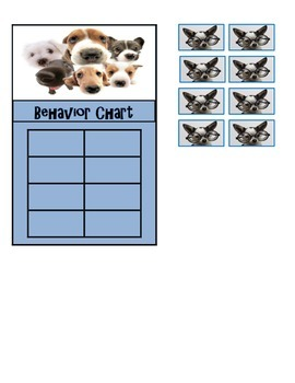 Behavior Chart (8 Boxes) Dog Theme