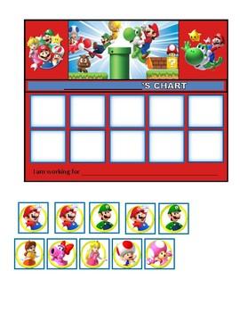 Behavior Chart (10 Boxes) Mario