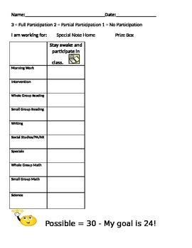 Behavior Chart for Students