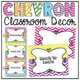 Behavior Chart Clip Chart {Chevron Classroom Decor Theme}