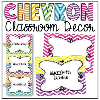 Behavior Chart Clip Chart in Chevron Classroom Decor Back To School