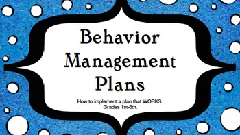 Behavior Plan Notebook Bundle