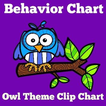 Owl Theme Clip Chart | Owl Theme Behavior Chart