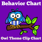 Owl Theme Classroom Behavior Chart