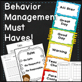 Behavior Clip Chart Editable Back to School Behavior Management