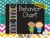 Editable Behavior Clip Chart {Chalkboard Chevron Polka Dot}