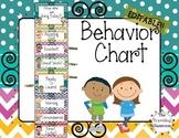 Editable Behavior Clip Chart {Chevron Polka Dot Theme Classroom Decor}