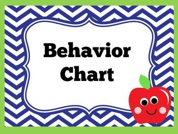 Chevron Clip Chart | Chevron Behavior Chart | Chevron Classroom Theme