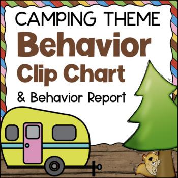 Behavior Chart - Camping Theme Clip Chart