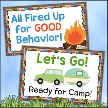 Behavior Clip Chart Camping Theme