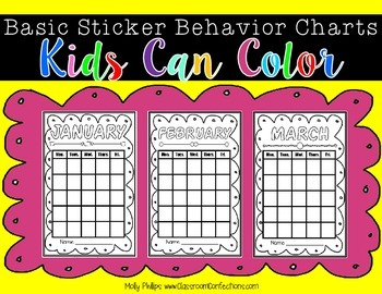 Behavior Sticker Charts: Behavior Management: Behavior Incentive