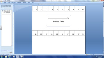 Behavior Chart- 20 Hole Punch
