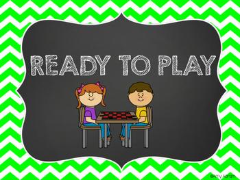 Game Board Themed Behavior Chart