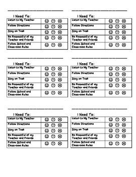 Behavior Chart-2nd Grade