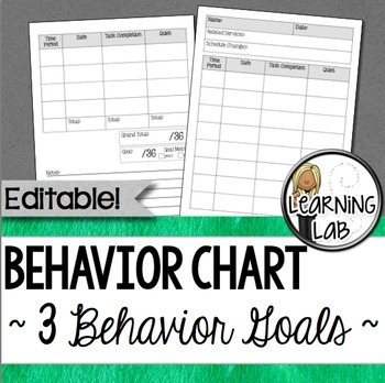 Behavior Chart   Behavior Goals By Learning Lab  Tpt
