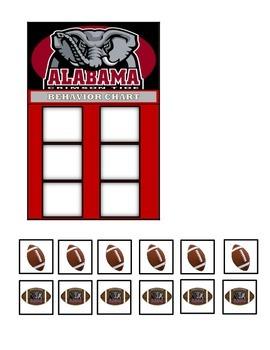 Behavior Chart (6 Boxes) Alabama Crimson Tide Football